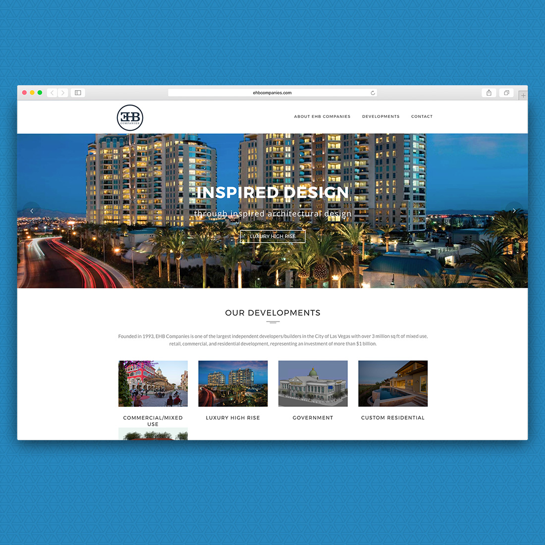 EHB Website Home Page